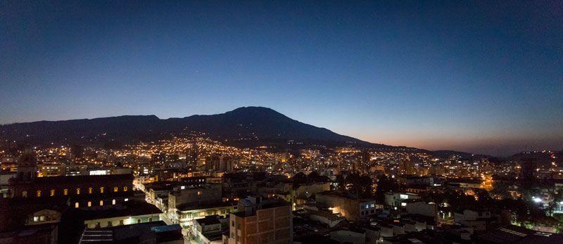 Panorámica Ciudad de Pasto - Volcán Galeras
