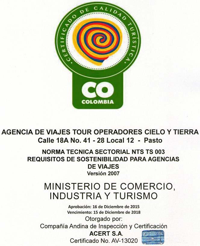 Certificado AV 13020